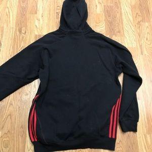 adidas Shirts - Adidas Men's Black Red Hoodie Sweatshirt-Medium